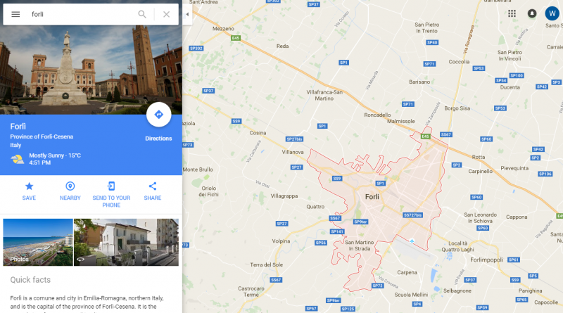 Forli Italy Map.Forli Italy 10 Thoughts After One Month Of My Semester Abroad