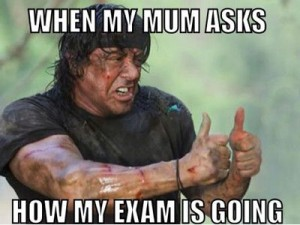 The aftermath of my exam a few days ago!