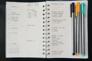 An example of a (very neat) bullet journal!