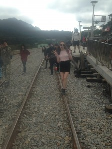 Pingxi Lanteren Festival  - People would walk on the tracks until the trains passed by