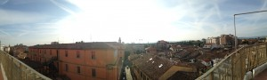 Panoramic view from my balcony of Forli