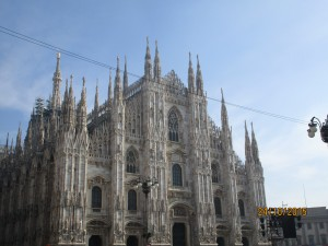 The impressive cathedral in Milan